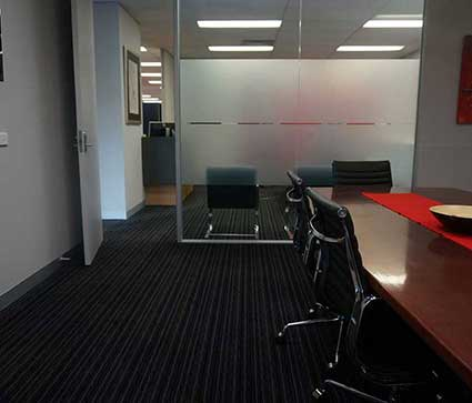 Distinctive flooring example - office